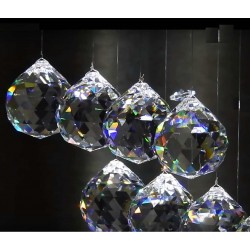 Bola cristal facetado Feng Shui